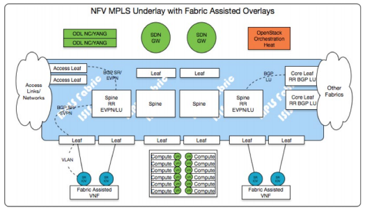 MPLS based Network Fabric