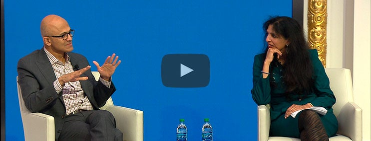 Fireside Chat with Microsoft CEO, Satya Nadella and Arista CEO, Jayshree Ullal
