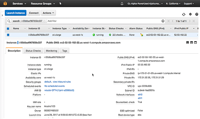vEOS Router - Launching vEOS Router Instances Using AWS