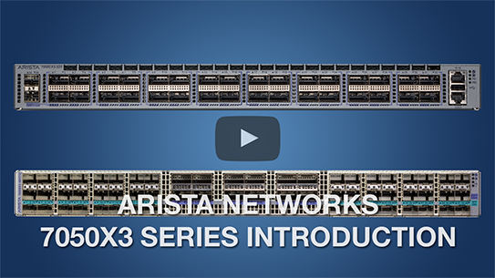 Arista 7060X Series - 40GbE and 100GbE Data Center Switches